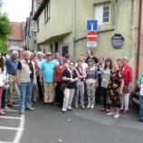 Gruppenfoto im Judenhof in Gochsheim, Foto: Josef Laudenbacher