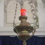 Blick auf das Ewige Licht in der rekonstruierten Synagoge in Veitshöchheim, Foto: Gabi Rudolf