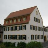 Außenansicht der ehemaligen Präparandenschule in Höchberg, Foto: Rebekka Denz