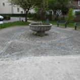Moderner Magen David (2. Hälfte 20. Jh.) mit Brunnen im Judenhof in Zell, Foto: Jesko Graf zu Dohna